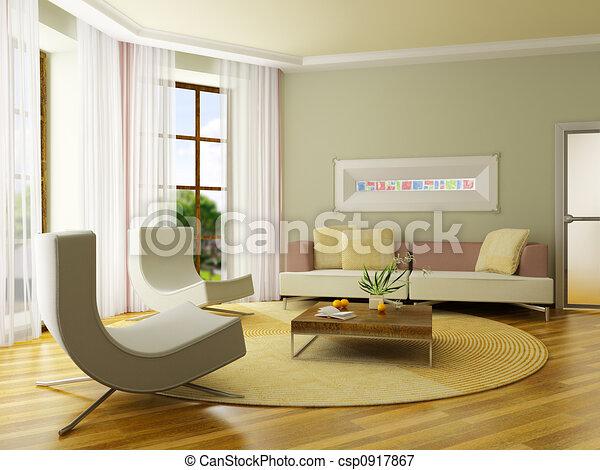 3D render interior - csp0917867
