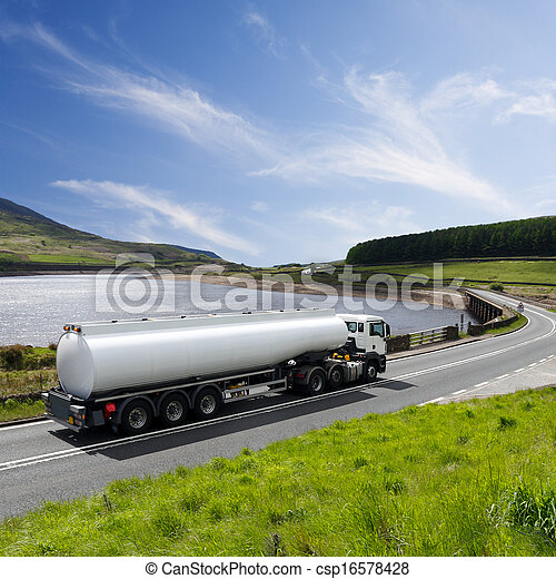 A Big Fuel Tanker Truck - csp16578428
