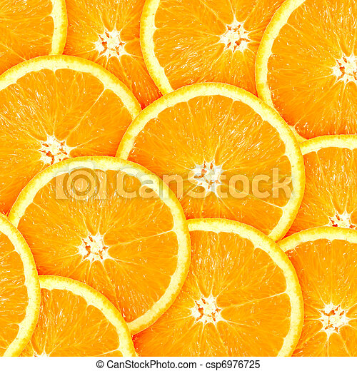 Abstract background with citrus-fruit of orange slices - csp6976725