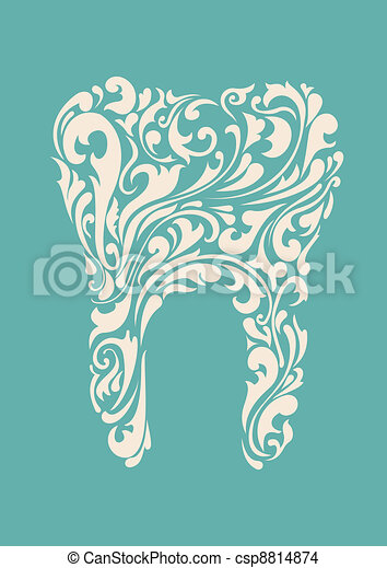 abstract floral teeth - csp8814874