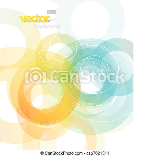 Abstract illustration with circles. - csp7021511