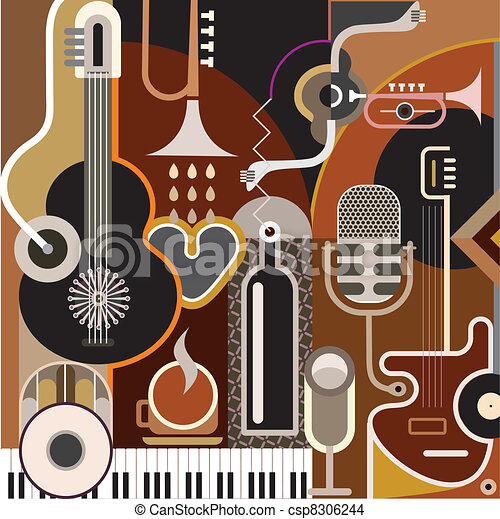 Abstract Music Background - csp8306244