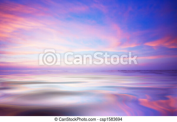 abstract ocean and sunset - csp1583694