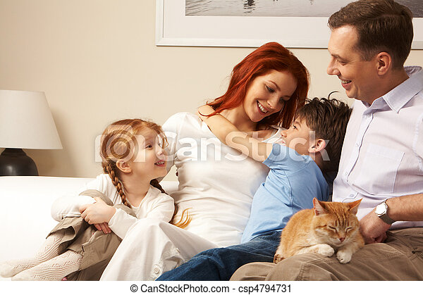 Affectionate family - csp4794731