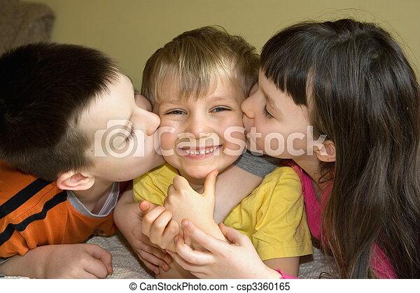 Affectionate Siblings - csp3360165