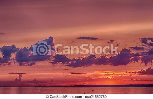 after sunset - csp21682760