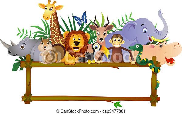 Animal cartoon - csp3477801