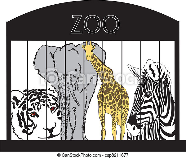 Animals At The Zoo - csp8211677