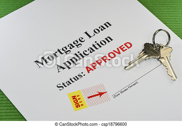 Approved Real Estate Mortgage Loan Document Ready For Signature - csp18796600