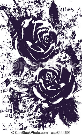artistic rose abstract background - csp3444691