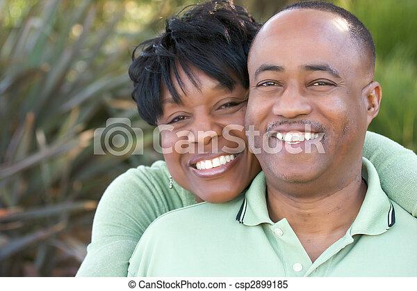 Attractive Happy African American Couple - csp2899185