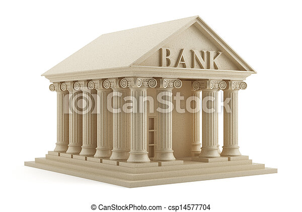 Bank icon isolated - csp14577704