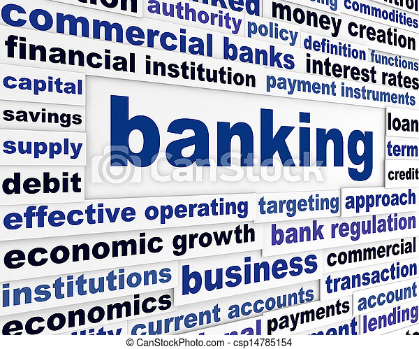 Banking business words concept - csp14785154
