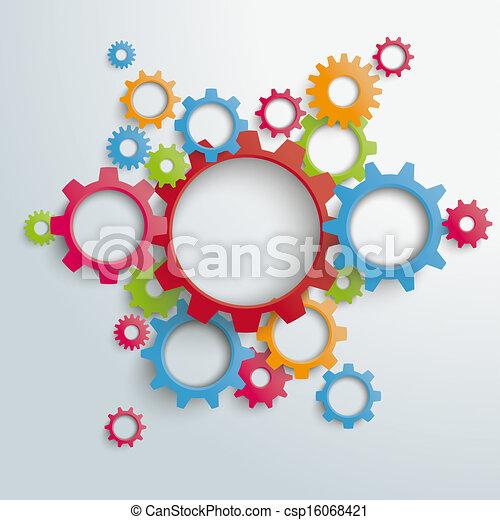 Big Machine Colored Gears PiAd - csp16068421
