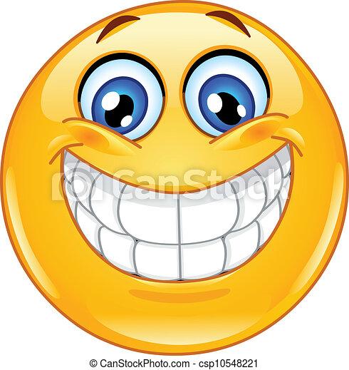 Big smile emoticon - csp10548221
