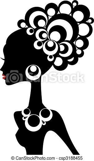 black woman, vector - csp3188455
