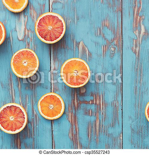 Blood oranges halved - csp35527243