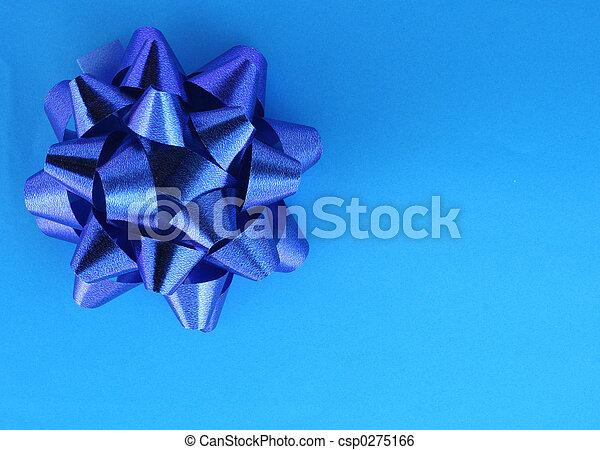 blue present - csp0275166