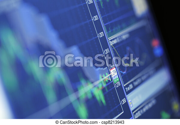 Blue Stock Chart Growth - csp8213943