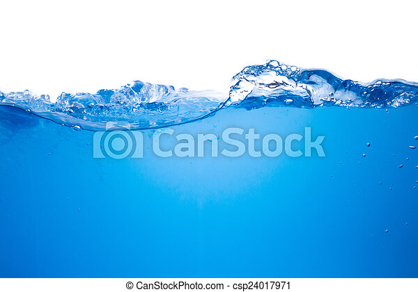 Blue water wave background - csp24017971