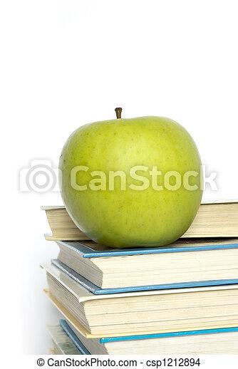 books and apple - csp1212894