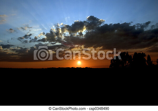 Bright Sunset - csp0348490
