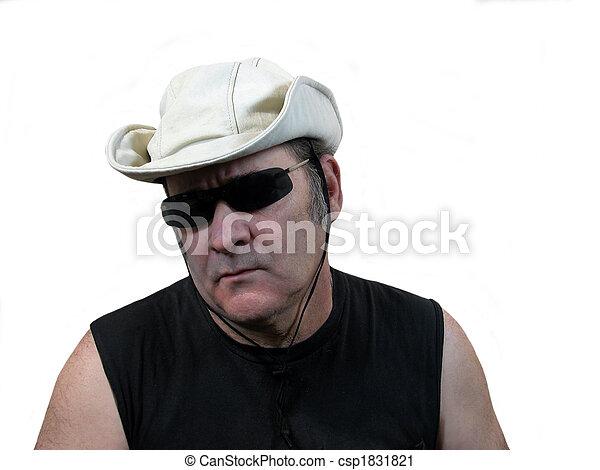 Bush hat man - csp1831821