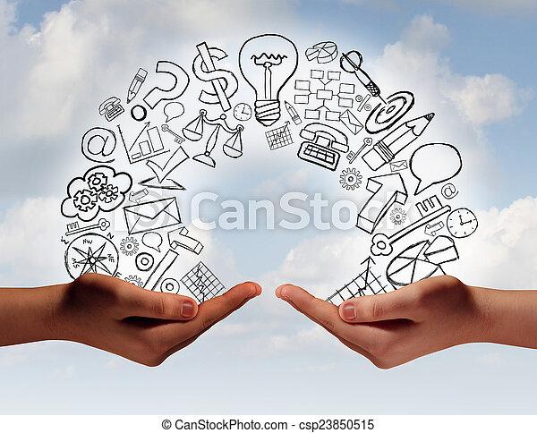 Business Exchange - csp23850515