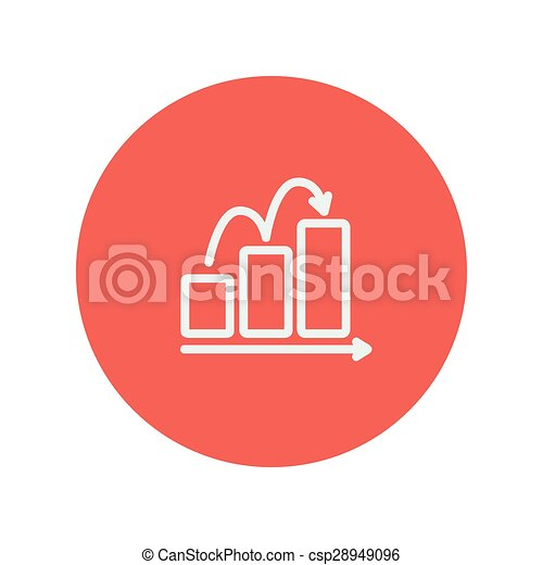 Business sales increase thin line icon - csp28949096