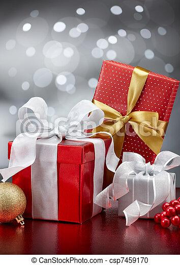 christmas presents - csp7459170