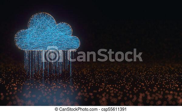 Cloud Computing Data Rain - csp55611391