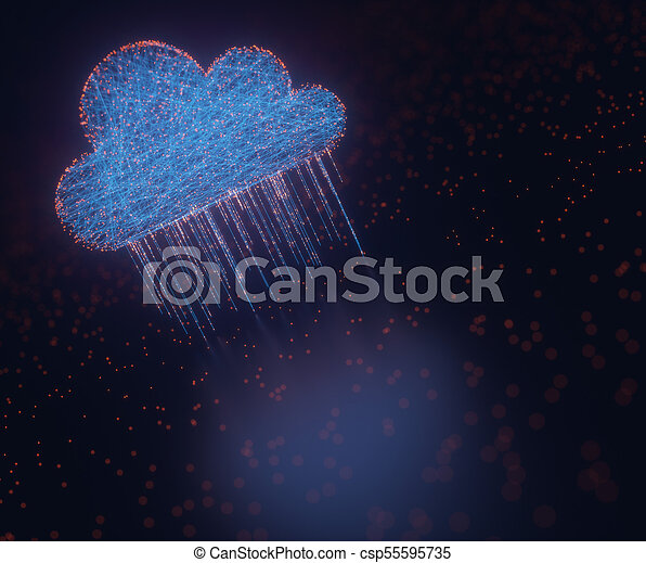 Cloud Computing Data Rain - csp55595735