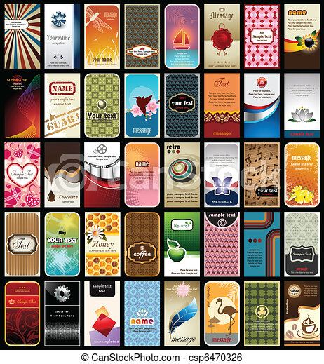 Collection of 40 Business Cards - csp6470326