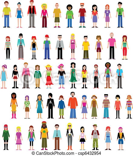 collection of different vector people - csp6432954
