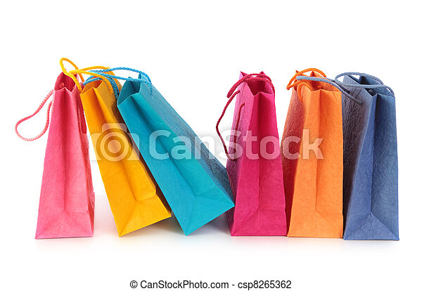 Colorful shopping bags - csp8265362