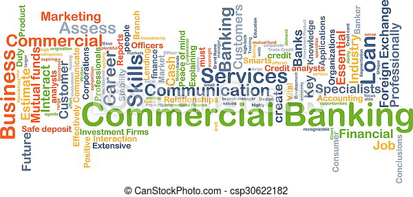 Commercial banking background concept - csp30622182