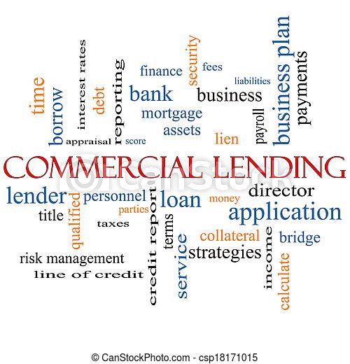 Commercial Lending Word Cloud Concept - csp18171015
