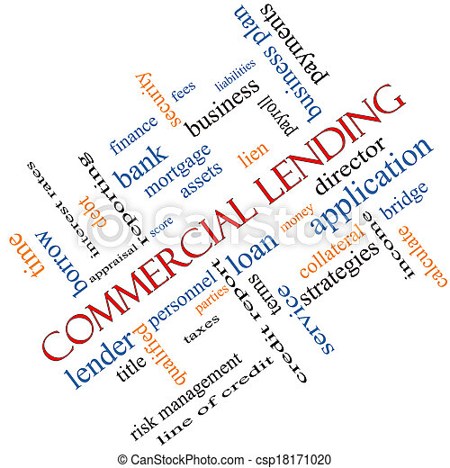 Commercial Lending Word Cloud Concept Angled - csp18171020