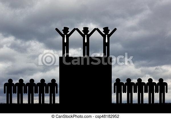 Concept of economic inequality - csp48182952