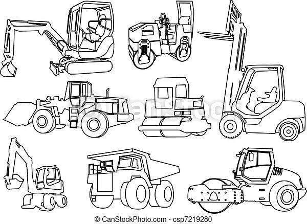 construction machines - vector - csp7219280