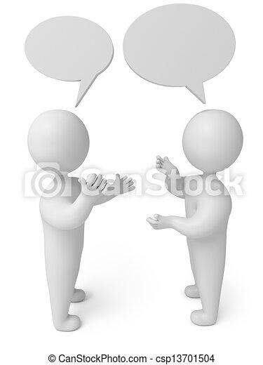 conversation, 3d render person - csp13701504