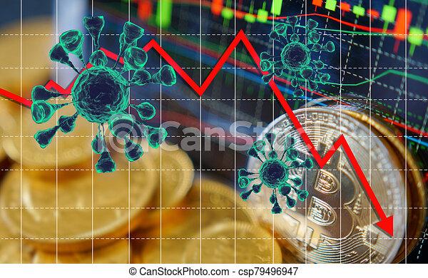 Coronavirus economic impact concept image. viral disease epidemic, 3D illustration - csp79496947