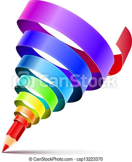 creative art pencil design concept - csp13223370