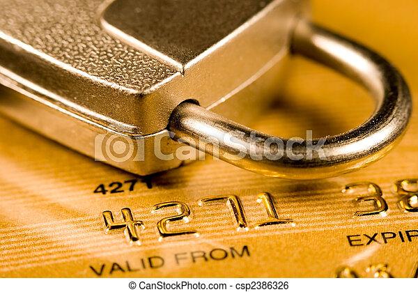 Credit Card Security - csp2386326