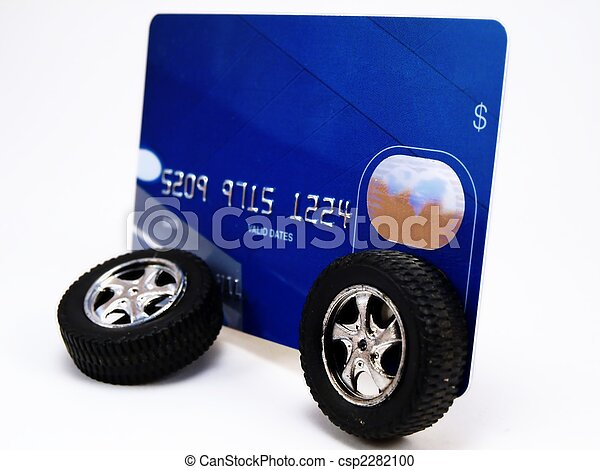Credit Card with Wheels - csp2282100