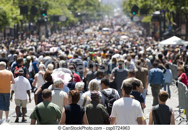 Crowd focus in front - csp0724963