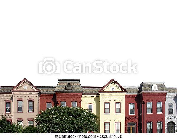 DC rowhouses white - csp0377078