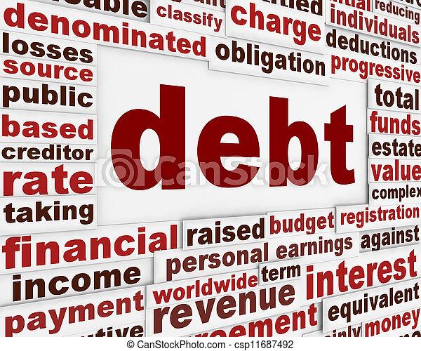 Debt financial poster - csp11687492