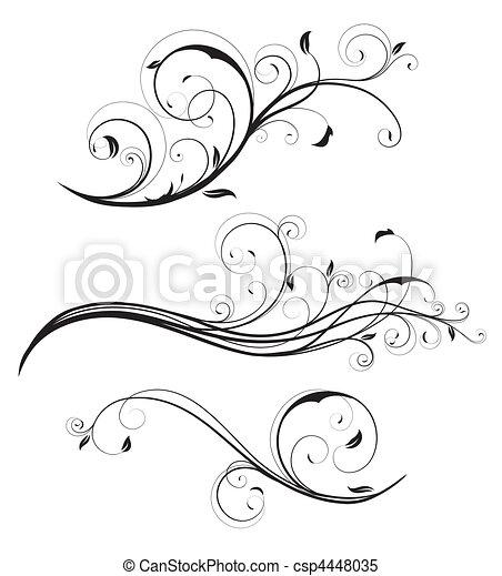 decorative floral elements - csp4448035