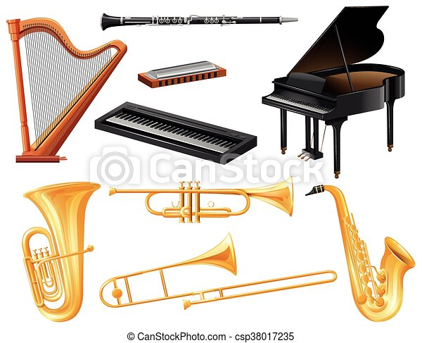 Different kind of musical instruments - csp38017235